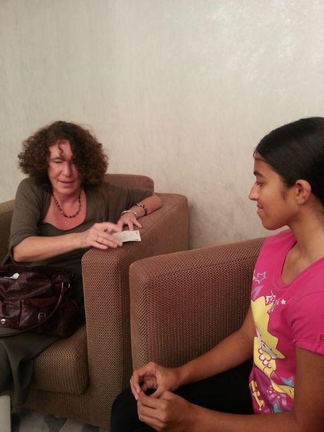 Tash with Francesca Simon