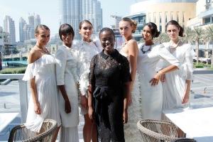 Ms Nana Agyeman Ennuson with models