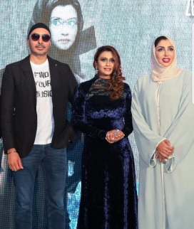 Sukhbir Singh, Zenofer and HH Sheikha Hend Al Qassemi