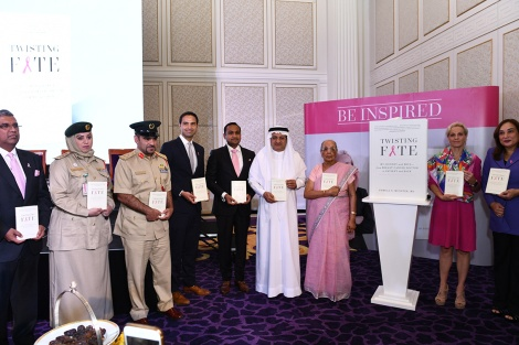 The launch of Twisted Fate by Dr  Pamela Munster along with H.E Humaid Al Qatami, Director General of DHA.JPG
