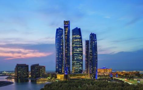 Jumeirah at Etihad Towers - Evening Tower Shot